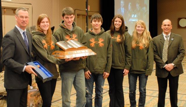 East Elgin S.S. were winners of the OFAH Leadership Program Award