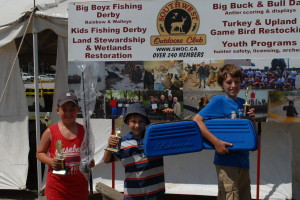 Ryan Baker,Coden Coppola, Evan Ouellettes at the SWOC fishing day