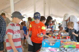 Young Anglers Picking Free Prizes