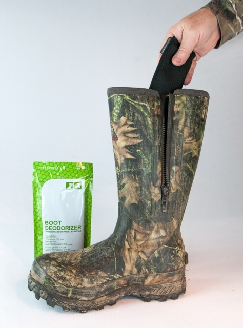 Ever Bamboo boot deodorizer lasts up to a year to keep your hunting boots fresh