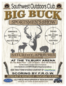 SWOC Big Buck Sportsmen's Show