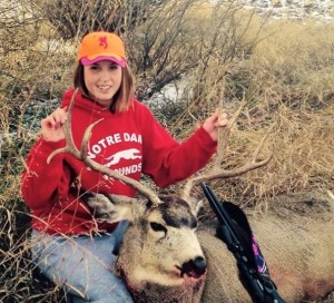 Cassidy Sagel with Mule Deer  2014