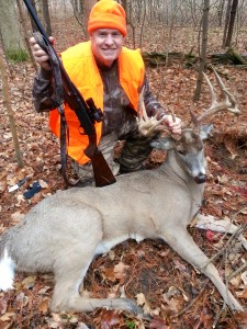 Mature 10 point buck with some kickers taken by Peter Wood during the controlled shotgun hunt Nov 30 -Dec 5 2015