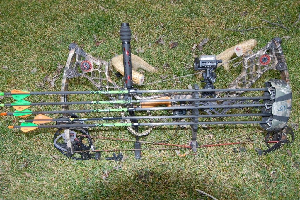 my 2015 hunting bow Matthews Z7 Extreme with Gold Tip arrows and G5 tips